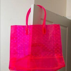 🖤juicy couture neon pink big shoulder/tote bag
